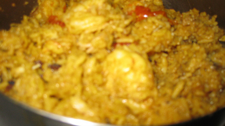 Amazingly Good Prawn Pulao