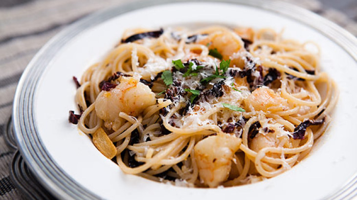 Ancho Chile, Shrimp, and Pasta