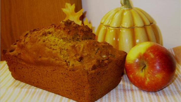 Autumn Pumpkin Apple Cider Bread