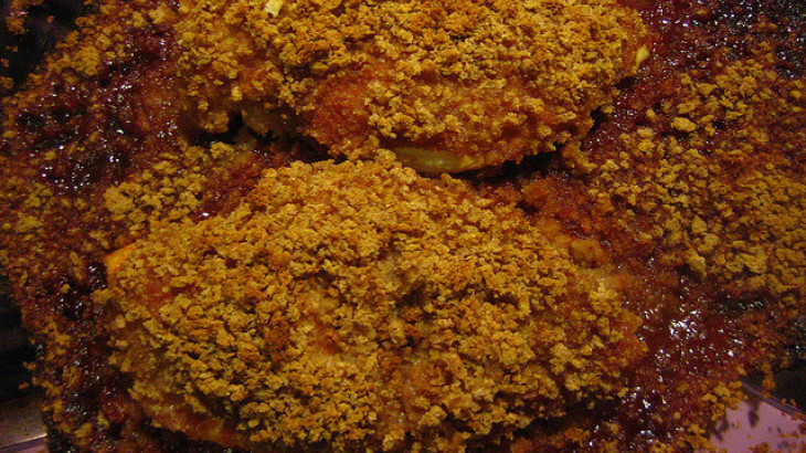 Baked Chicken Breasts W/Parmesan-Garlic Crust