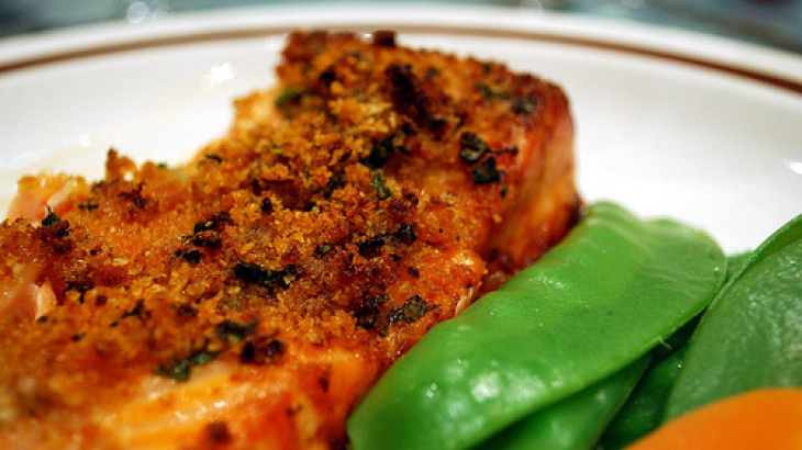 Baked Salmon With Horseradish (Ww)