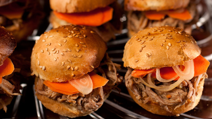Beer-Braised Pulled Pork Sliders Recipe