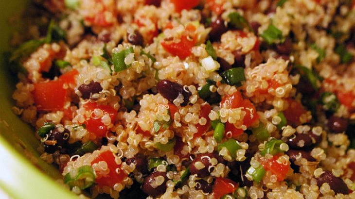 Black-Bean and Tomato Quinoa Salad