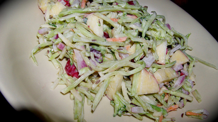 Broccoli Slaw With Cranberries and Pecans