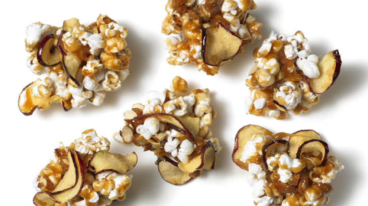 Caramel Apple Popcorn Clusters