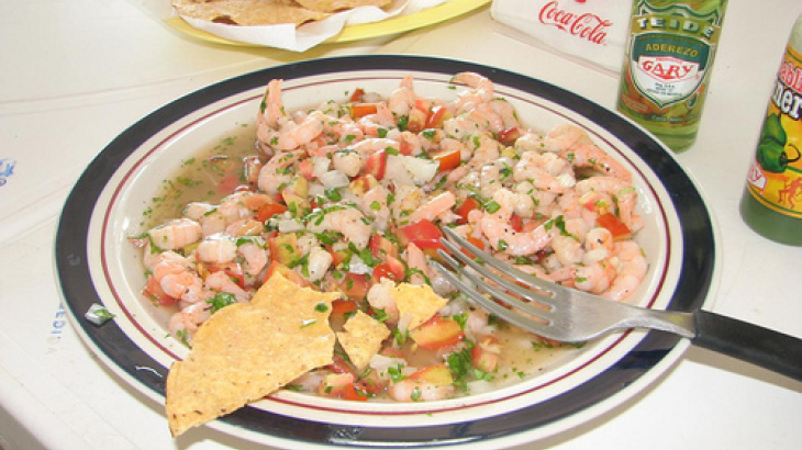 Ceviche De Pescado (Fish Salad Cooked in Lime Juice)