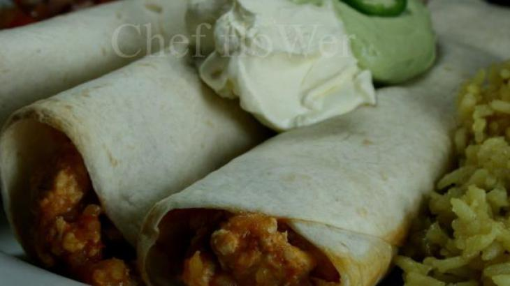 Picante Chicken Rice Burritos Recipe — Dishmaps