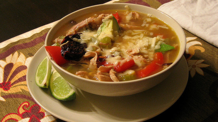 Chicken Lime Vegetable Soup