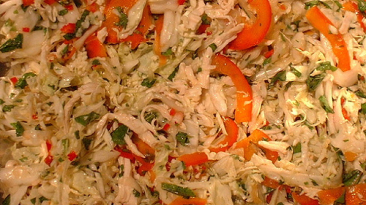 Chinese Cabbage Salad With Chicken (Awesome Flavor)
