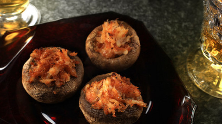 Crab and Fontina Stuffed Mushrooms Recipe