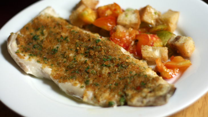 Dinner Tonight: Baked Fish with Savory Bread Crumbs