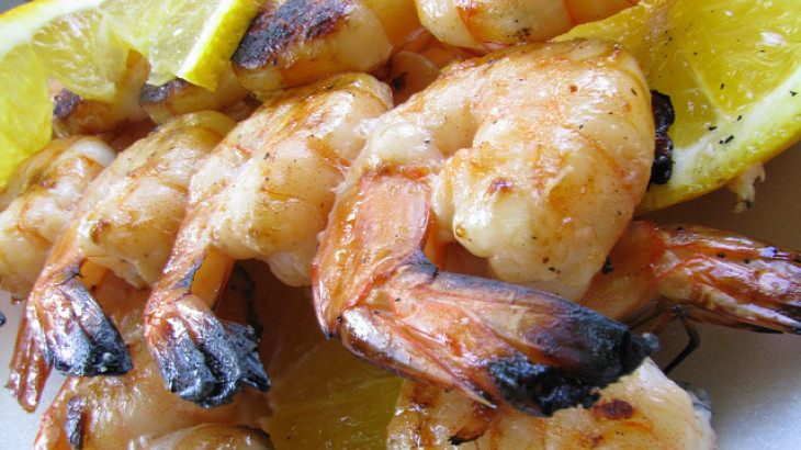 Gas-Grilled Shrimp Skewers