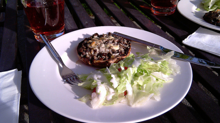 Grilled Stuffed Portabella Mushrooms