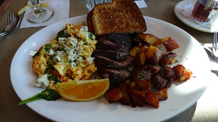 Healthy Steak and Eggs Scramble