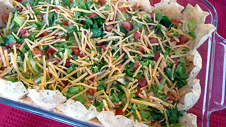 Hot and Cold Taco Appetizer Dip