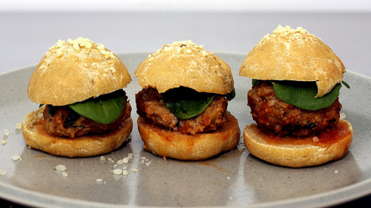 Joey Campanaros Meatball Sliders