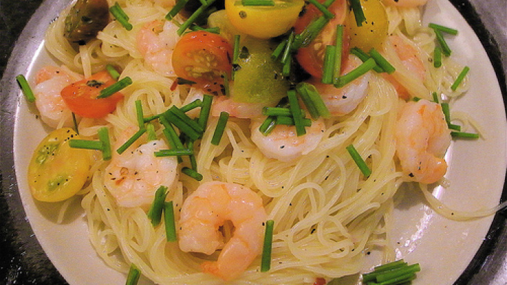 Lemon and Shrimp Capellini