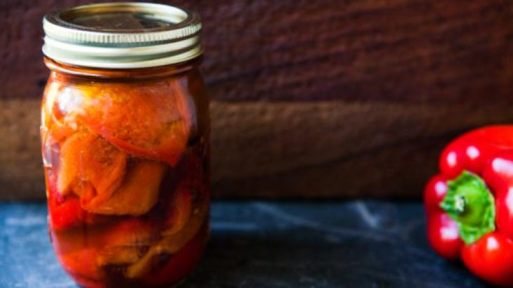 Marinated Roasted Red Bell Peppers
