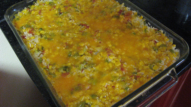 Mexican Corn and Rice Casserole