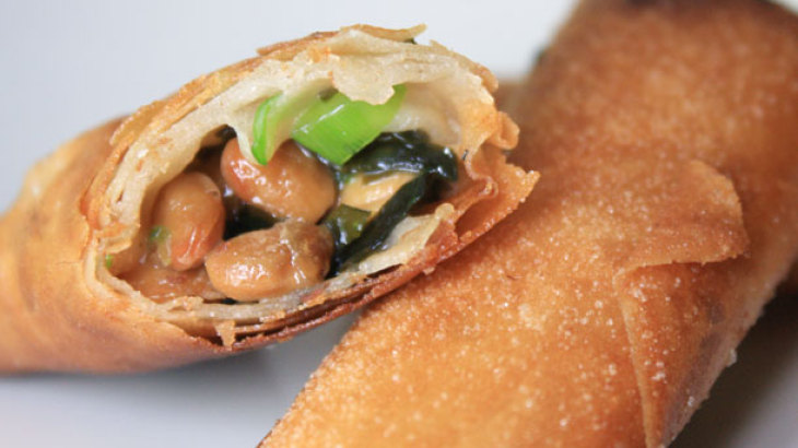 Natto Spring Rolls