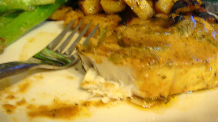 Oven Roasted Halibut With Herb Citrus Vinaigrette