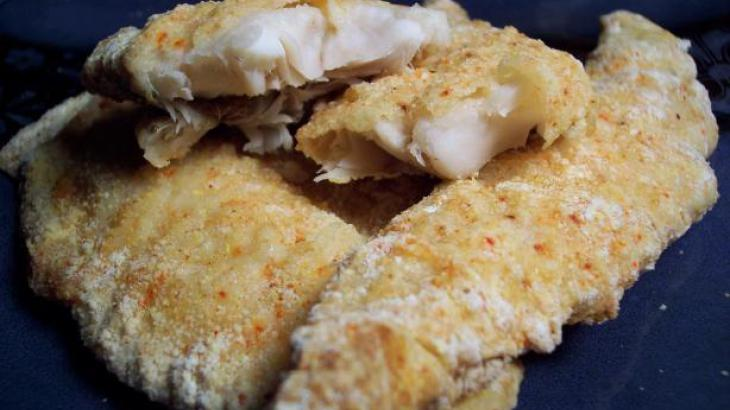 Parmesan and Cornmeal Crusted Fish Fillets