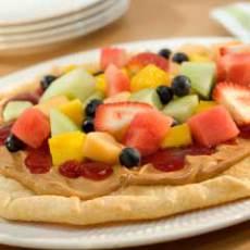 Peanutty Fruit Pizza