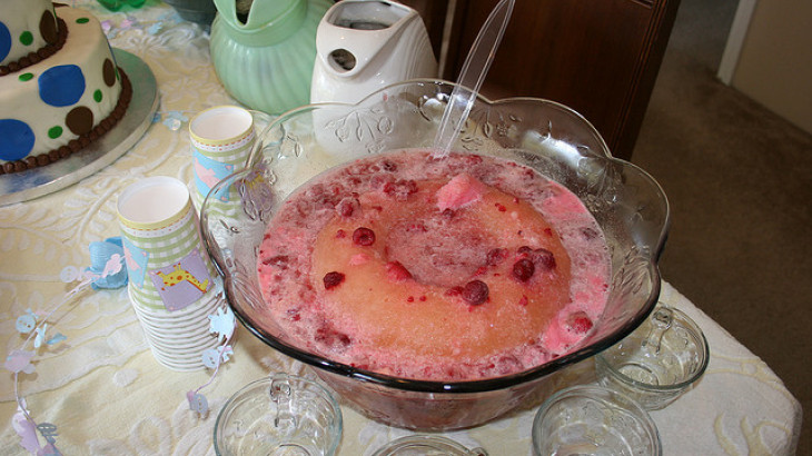 Raspberry Sherbet Punch
