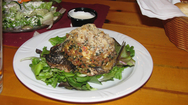 Sausage-Stuffed Portabella Mushrooms With Mozzarella Cheese