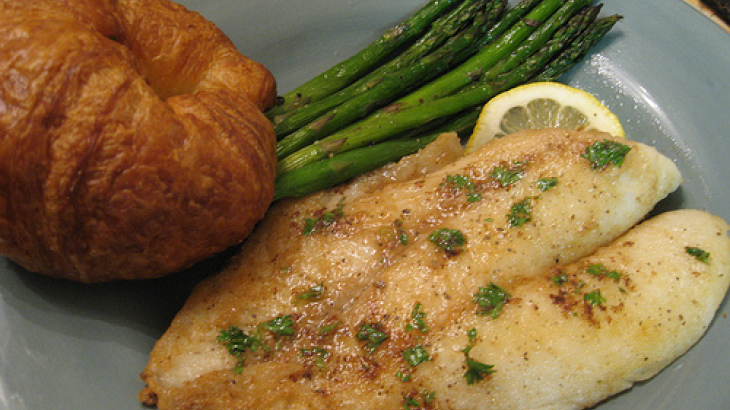 Sesame-Baked Orange Roughy