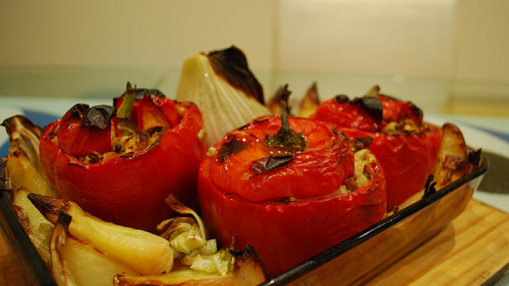 Slow-Roasted Stuffed Capsicum