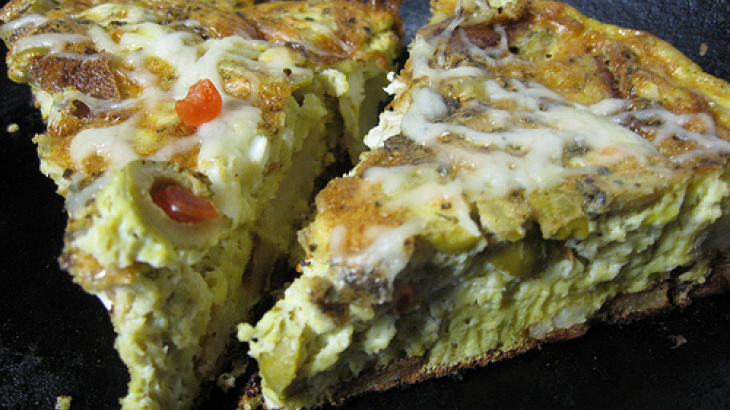 Spanish Frittata With Potatoes and Olives