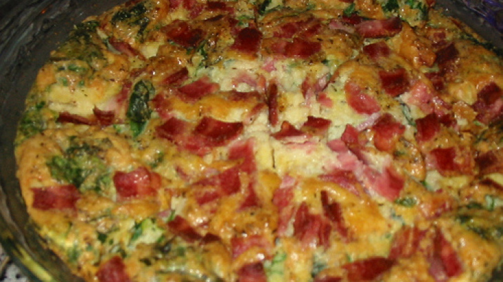 Spinach, Bacon and Mushroom Quiche
