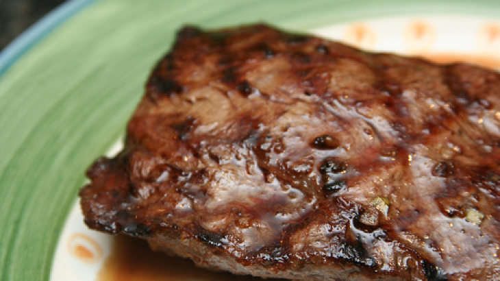 Steak With Mardi Gras Marinade