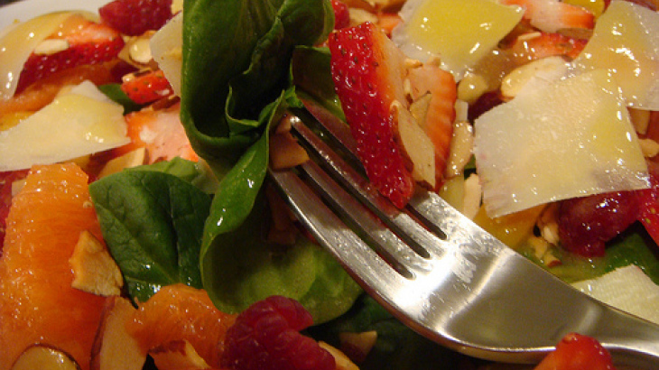 Strawberry Spa Turkey Salad